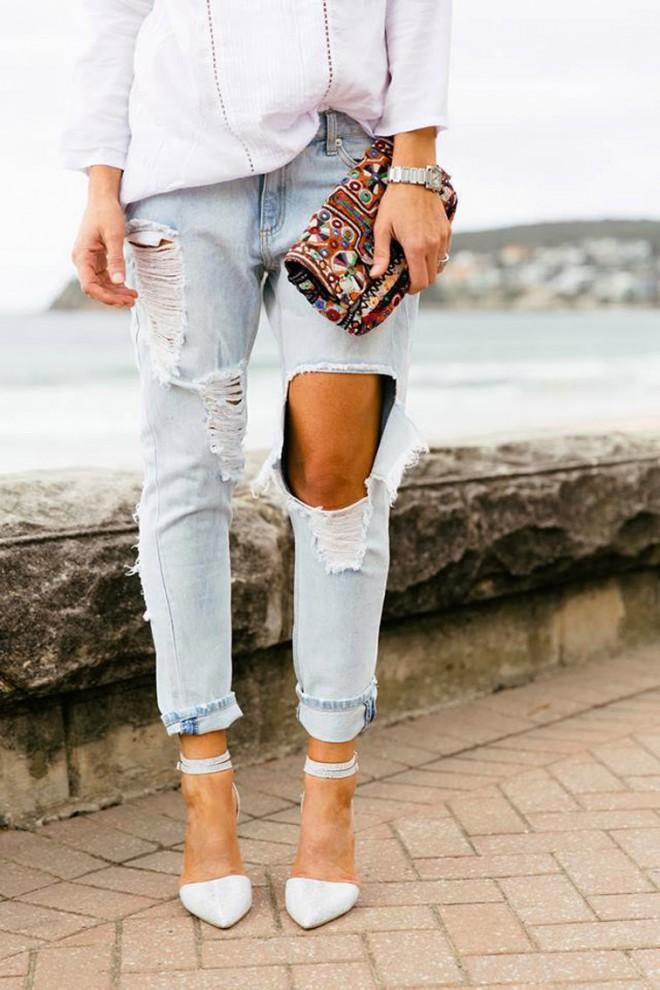 passi  creare jeans strappati fai da te mamme  spillo