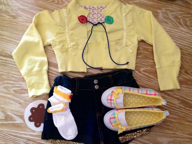 outfit bimba refashion giallo