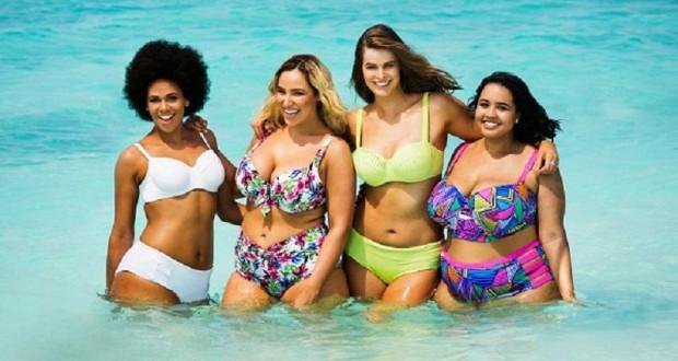 Costumi da bagno curvy proposte per l 39 estate delle donne - Le donne in bagno ...