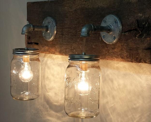 barattoli di vetro luce_ applique