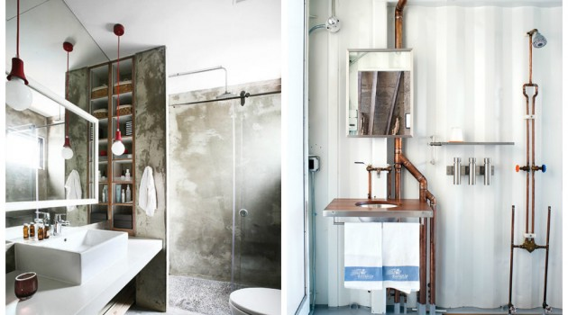 Bagno in stile industriale fai cos mamme a spillo - Bagno industrial ...