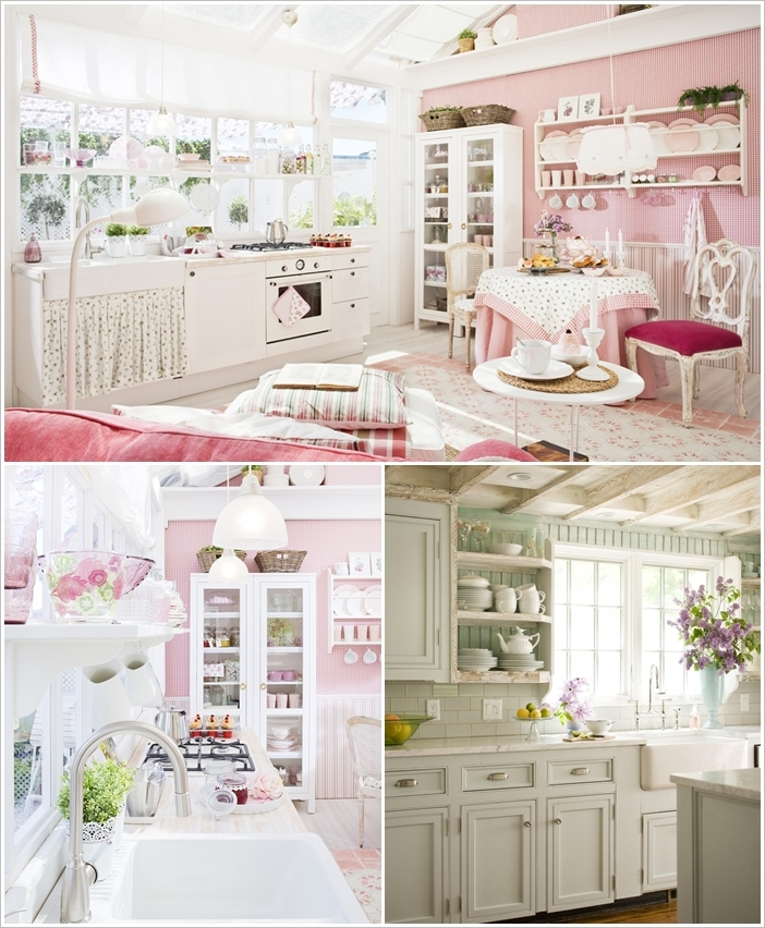 Cucina in stile shabby chic facile e fantastico mamme for Shabby chic cucina