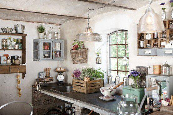 Cucina in stile shabby chic facile e fantastico mamme for Case arredate stile shabby