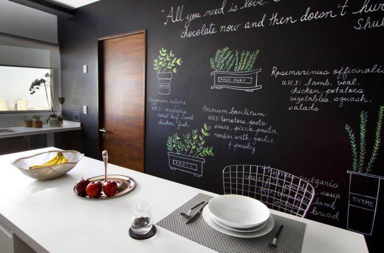 10 idee per la tua cucina con la vernice effetto lavagna - Mamme a ...