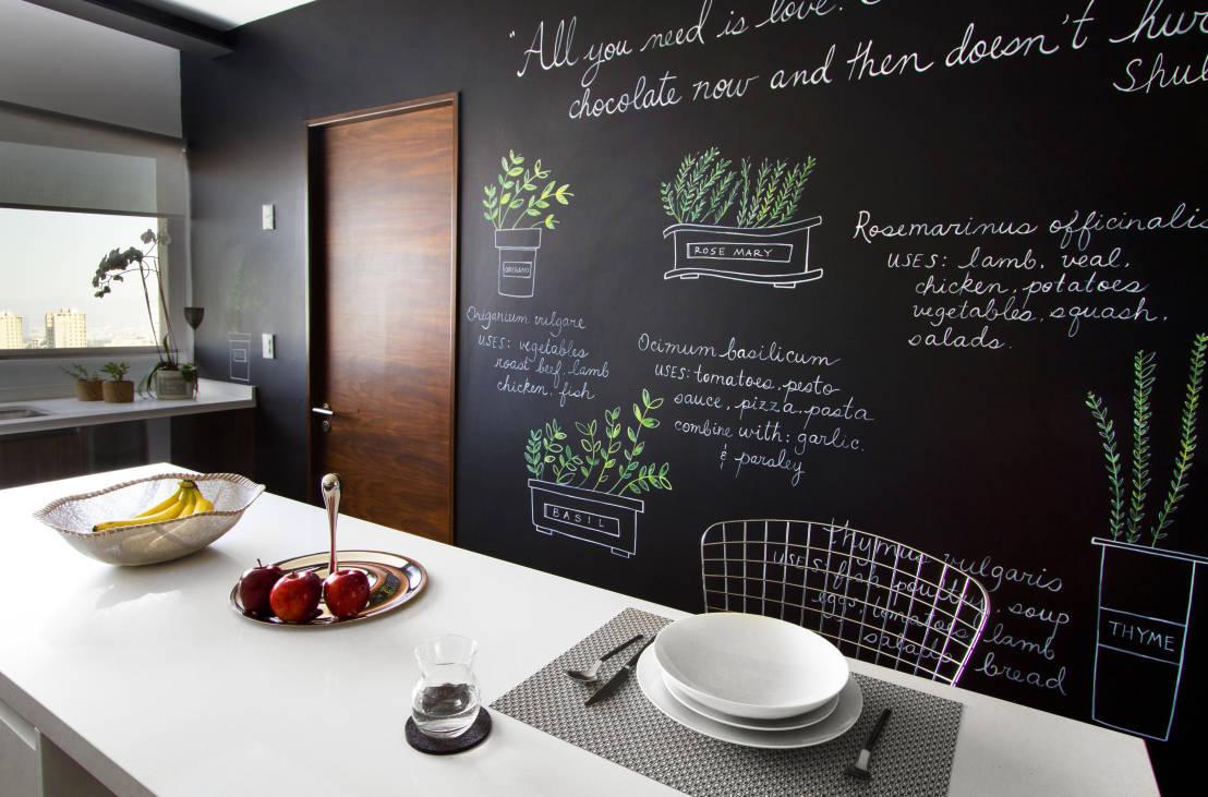 Super 10 idee per la tua cucina con la vernice effetto lavagna - Mamme a  JW55