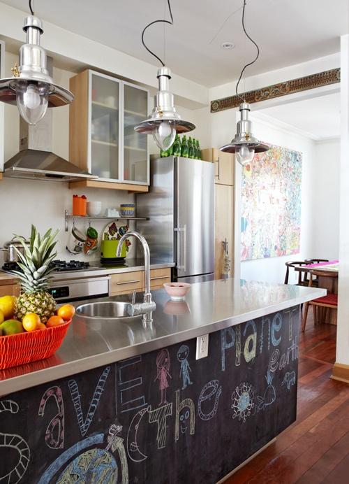 spesso 10 idee per la tua cucina con la vernice effetto lavagna - Mamme a  WZ94