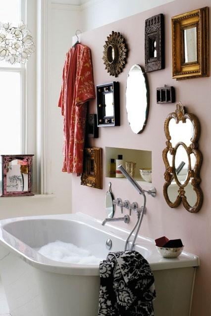 Arredare con gli specchi idee per dare luce alla casa - Specchi particolari per bagno ...