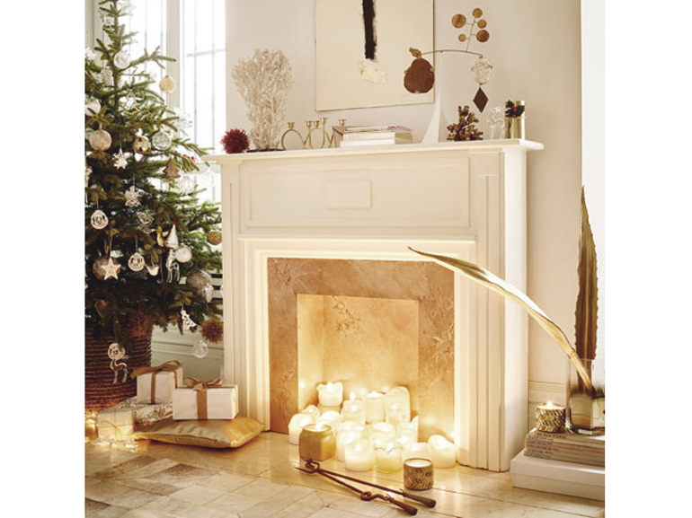Natale 2015 come decorare casa in stile shabby chic for Decorare soggiorno per natale