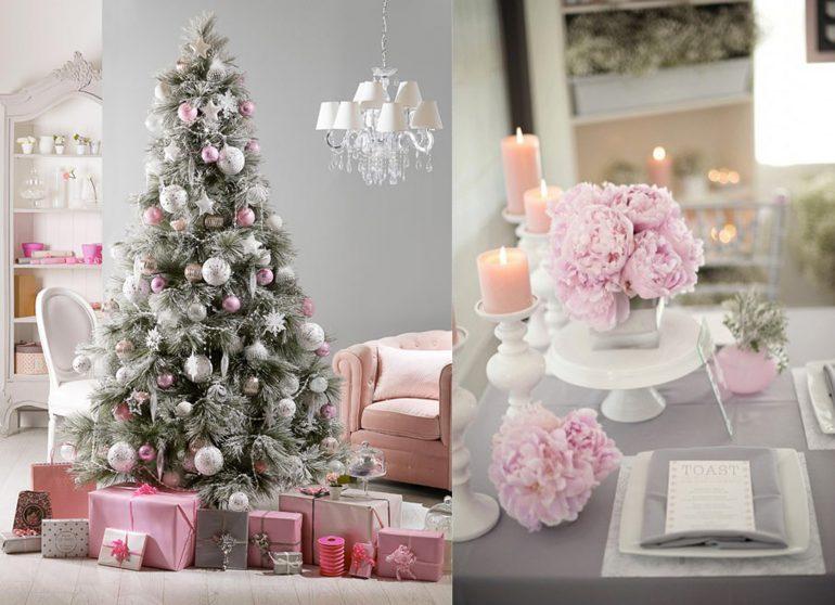 Addobbi Natalizi Rosa.Decorazioni Pastello Per Un Natale Romantico