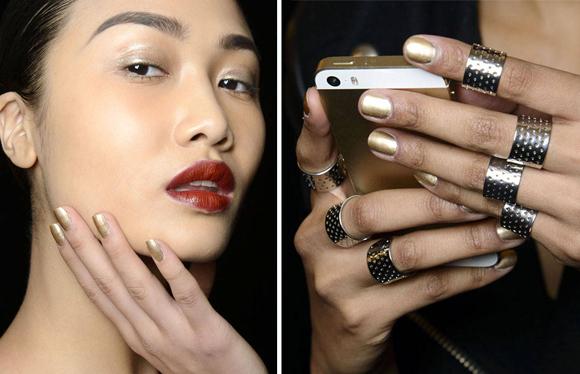 unghie metallizzate