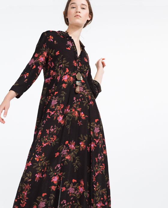 Vestito Bianco Fiori Zara ~ Vestito nero a fiori zara su abiti da sposa  italia fa1a7d9c961