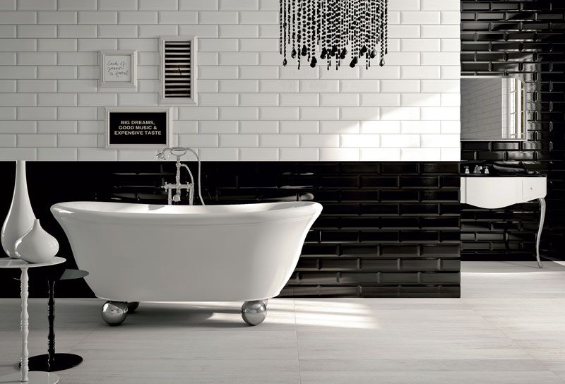 Arredo Bagno Bianco E Nero.Un Bagno Optical Come Arredarlo In Puro Stile Black White