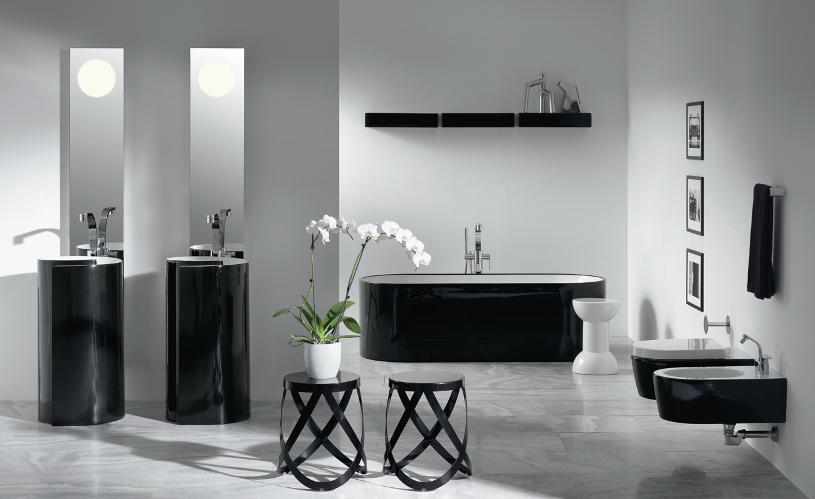 Un bagno optical: come arredarlo in puro stile black&white