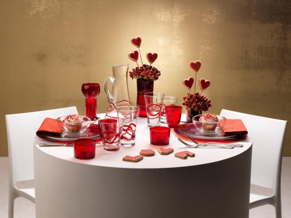 S valentino la tavola perfetta per una cena romantica - Idee cena romantica a casa ...