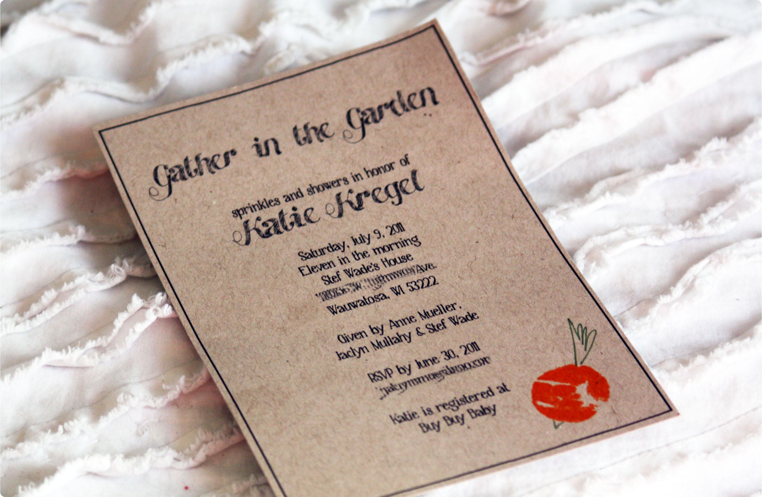 inviti per baby garden party