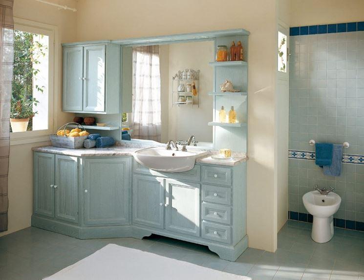 Un bagno in stile country su quali complementi d arredo puntare - Mobili per bagni classici ...