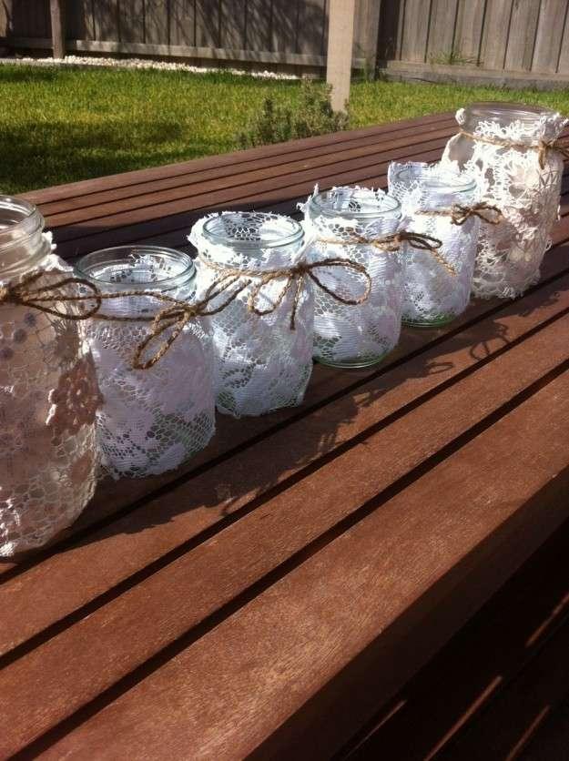 Portacandele fai da te perfetti alleati delle sere d estate - Portacandele in vetro ...