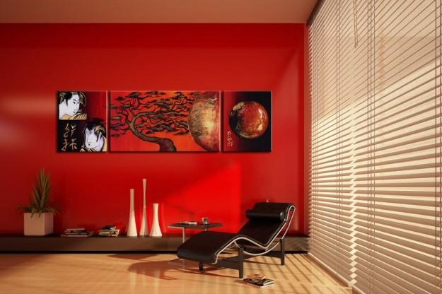 Rosso mon amour: una casa nel colore delle fragole