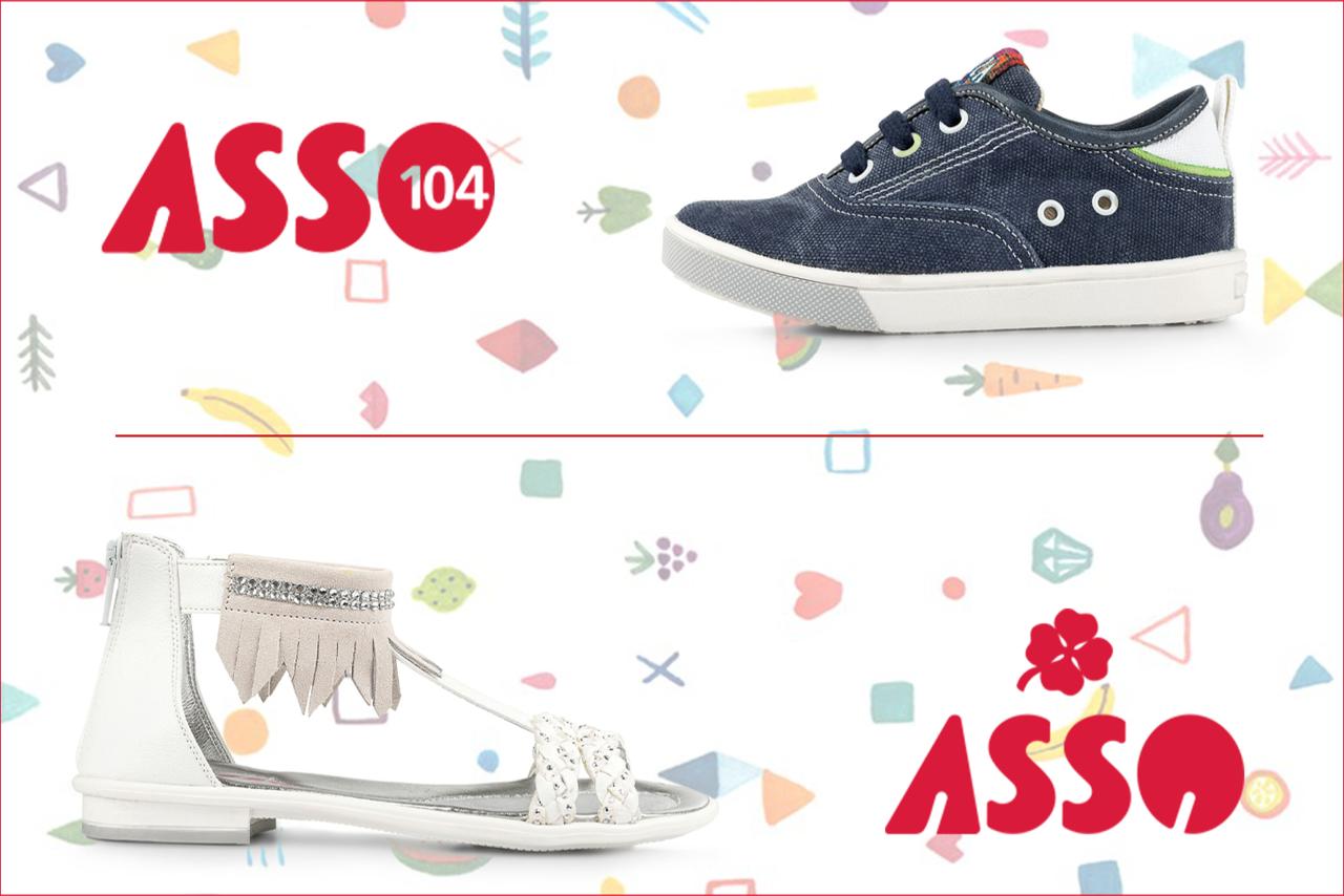 cheaper ad531 fd312 Scarpe da bimbi Asso: calzature fresche e divertenti per l ...