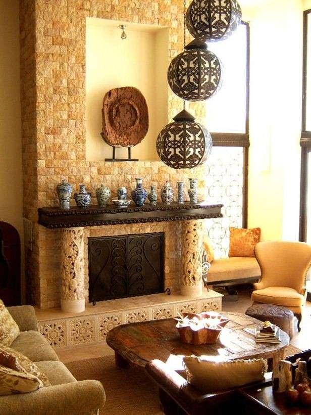 Un salotto in stile etnico ecco come realizzarlo - Bagno stile etnico ...