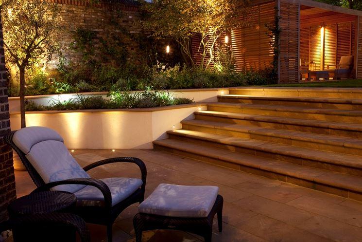 Illuminazione da esterni per giardini e terrazze da sogno - Vialetto giardino illuminato ...
