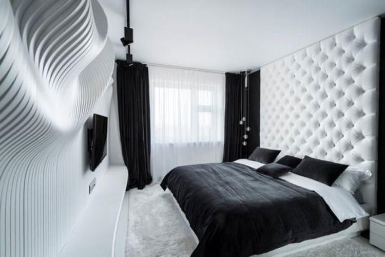 Camera da letto in black&white: il fascino della modernità