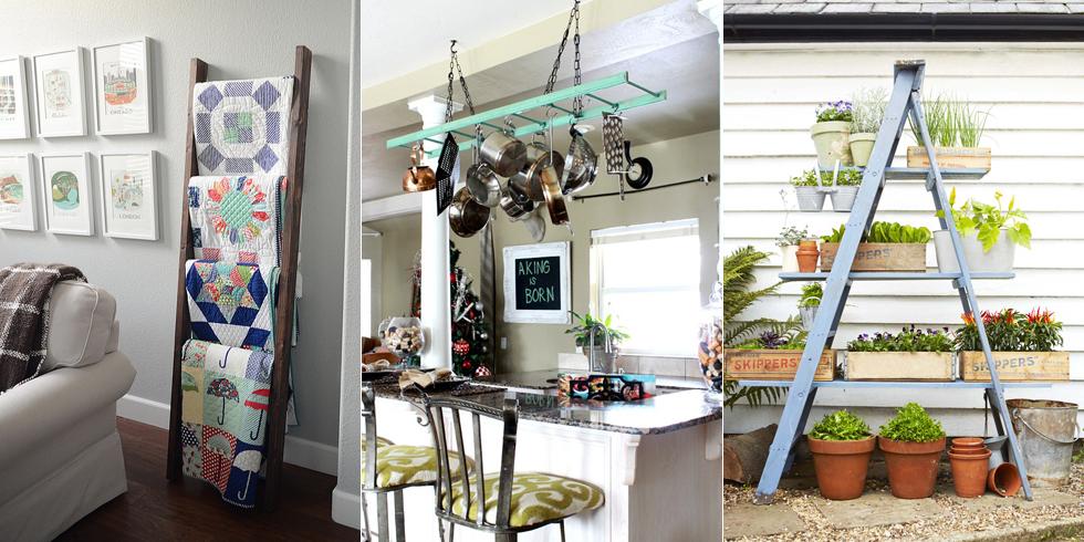 Come utilizzare le vecchie scale a pioli per abbellire la for Abbellire casa