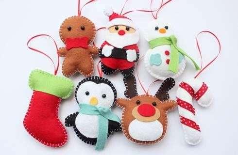 Creare Addobbi Natalizi In Feltro.Decorazioni Di Natale In Feltro Fai Cosi Mamme A Spillo