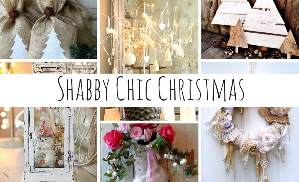shabby chic christmas tante idee per le vostre decorazioni natalizie. Black Bedroom Furniture Sets. Home Design Ideas