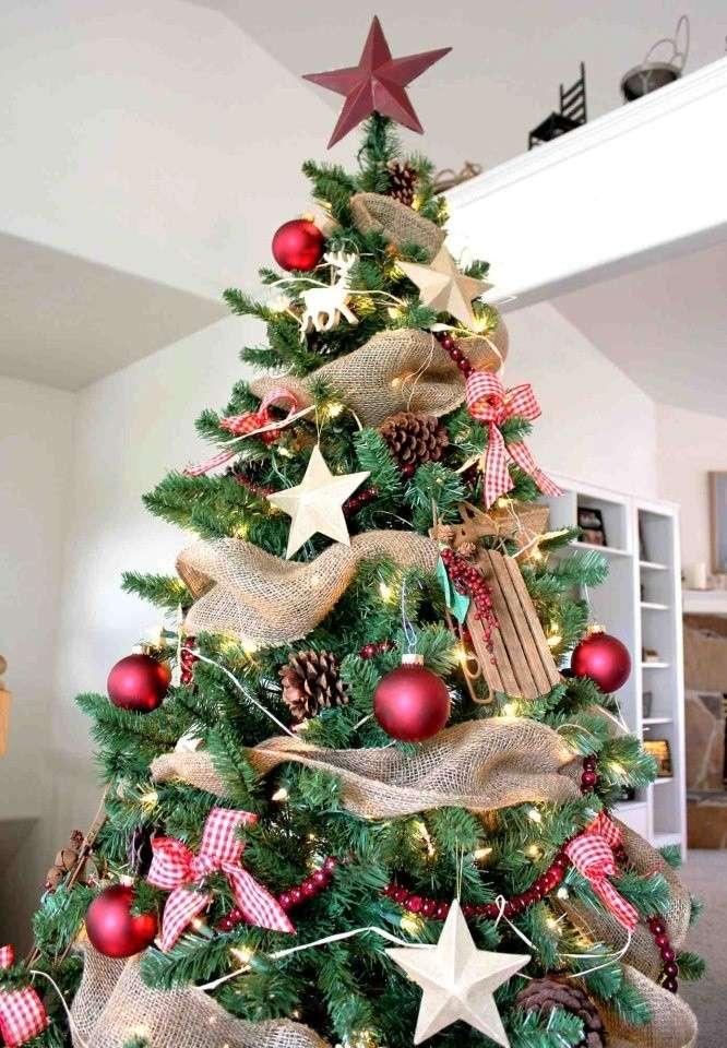 Decorazioni albero di natale con foto