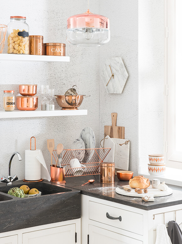 Da maison du monde la tendenza copper in saldo mamme - Barattoli cucina maison du monde ...
