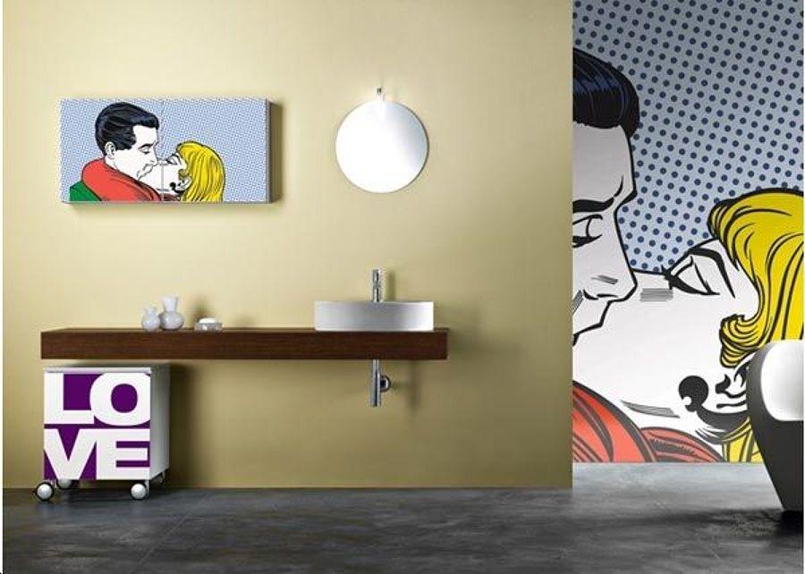 Arredamento Stile Pop Art : Bagno in stile pop art tanto colore e forme anni