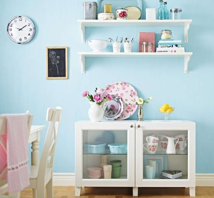 Una cucina pastello armonia e dolcezza grazie ai colori soft for Arredare le pareti