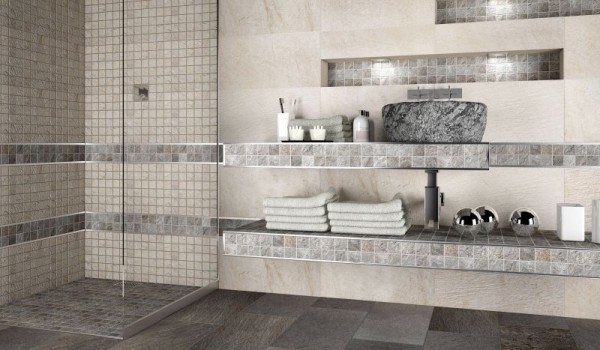 Doccia in muratura la soluzione ideale per chi ha poco spazio - Bagno muratura mosaico ...