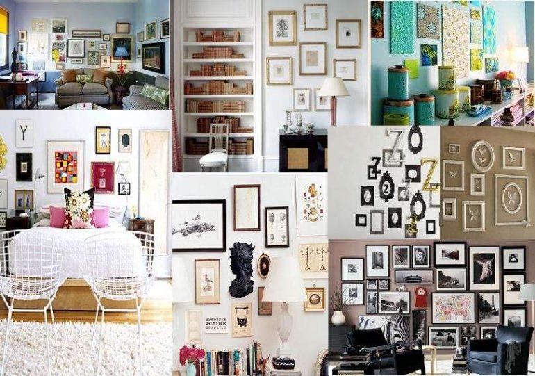 Cornici creative tante idee per decorare le pareti con il for Idee per il fai da te