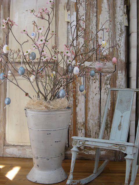 decorazioni di pasqua in stile shabby chic: le più belle - Arredare Casa Per Pasqua