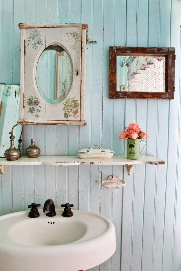 Interesting arredo bagno arredo bagno country chic arredi for Arredo shabby economico