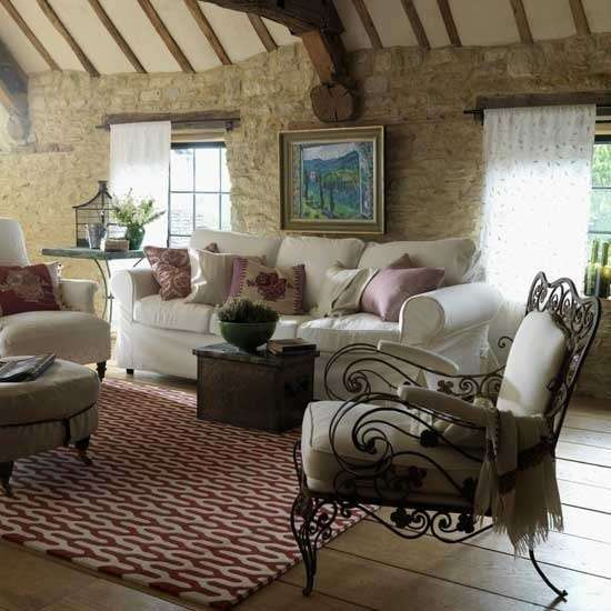 living-room-in-stile-provenzale