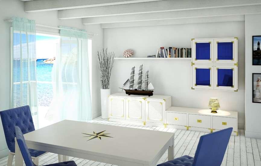 Stile navy arredi in blu e bianco ispirati all 39 atmosfera for Stile e arredo