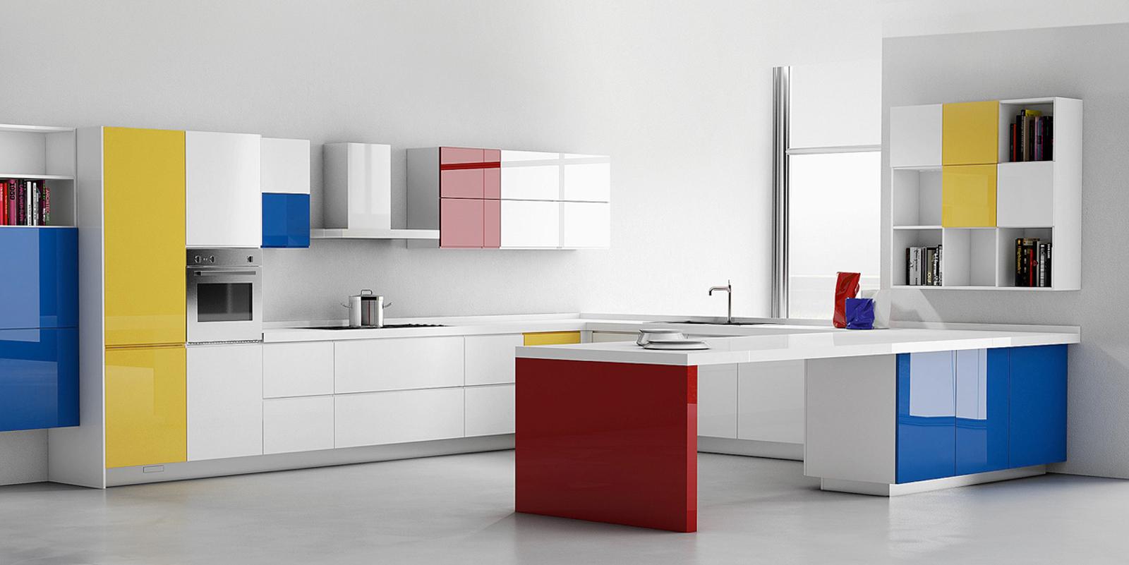 Una cucina moderna e colorata come arredarla nel modo perfetto mamme a spillo - Piastrelle cucina colorate ...