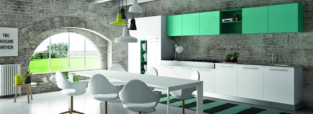 Una cucina moderna e colorata come arredarla nel modo - Cucine bellissime ...