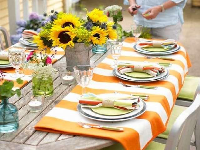 En plein air d 39 estate idee per apparecchiare la tavola for Idee per una cena di compleanno