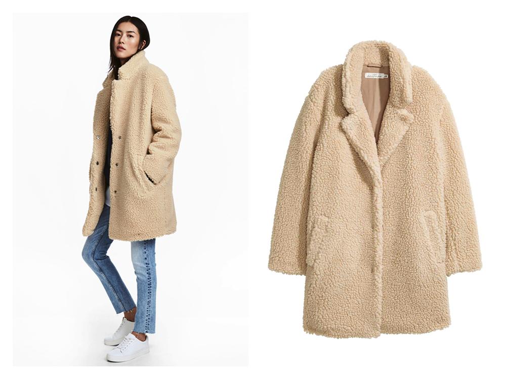 cappotto in peluche in Rose Teddy Pelo riduce Cappotto BABY da Teddy Pelo 60/%