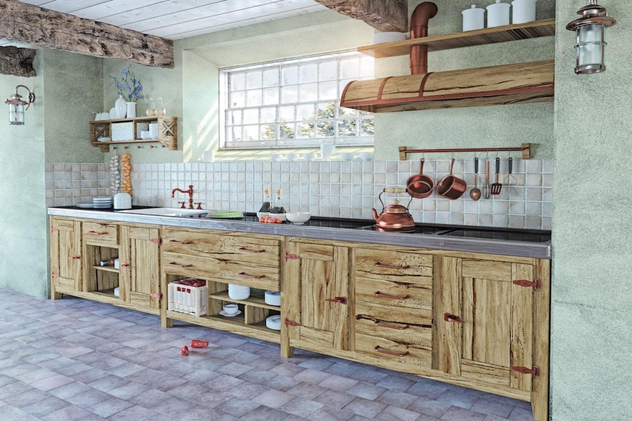 Cucine In Muratura Bianche cucina in muratura fai da te: come realizzarne una