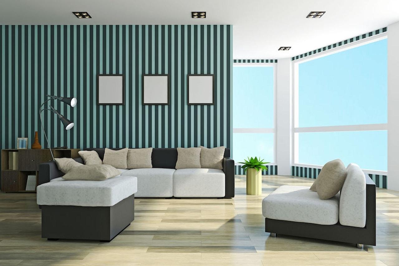 Colori Pareti Azzurro : Come rendere le pareti di casa uniche: colori e stampe da copiare