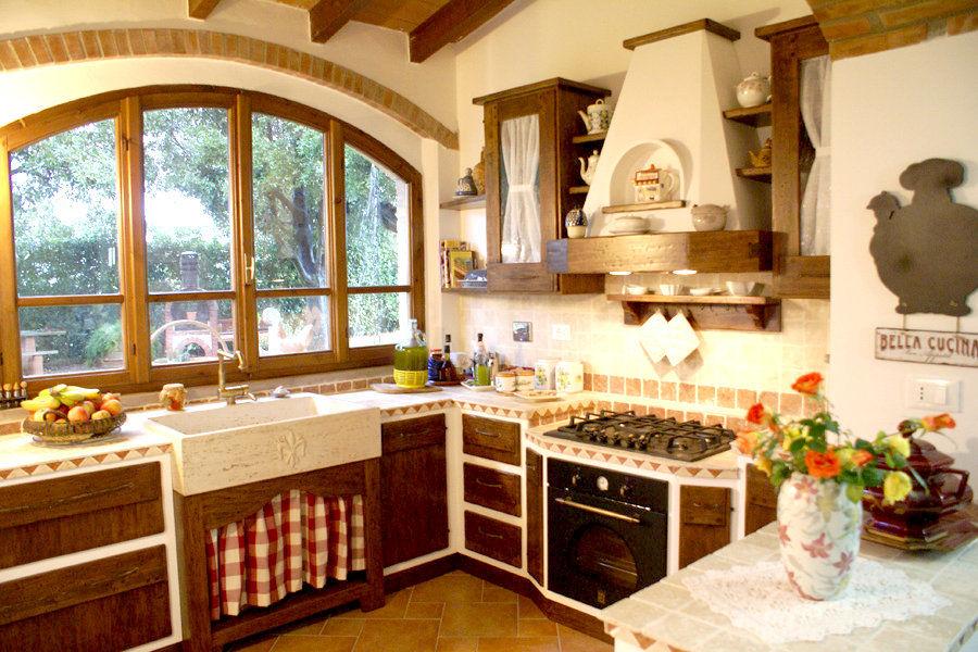 Cucina in muratura fai da te come realizzarne una - Arredamento cucina classica ...