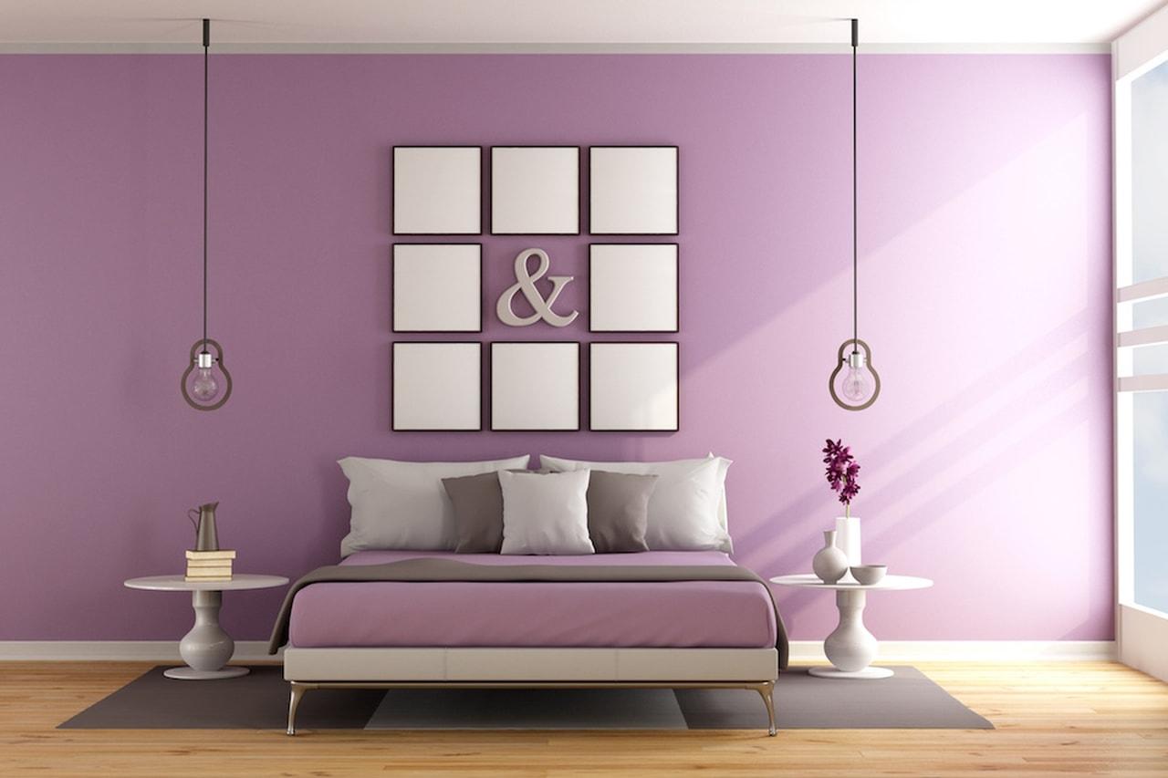 Parete Colorata Camera Da Letto come rendere le pareti di casa uniche: colori e stampe da
