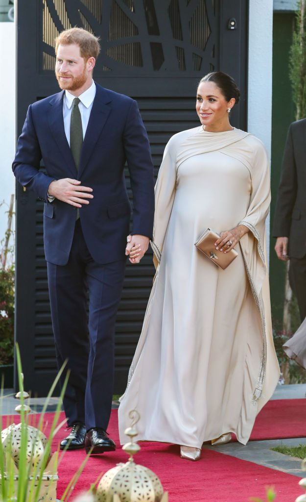Meghan Markle in caftano Dior